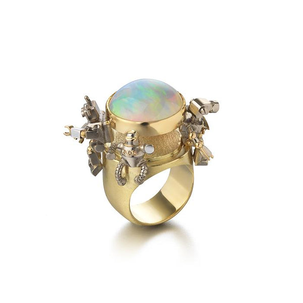 opal ring with robots