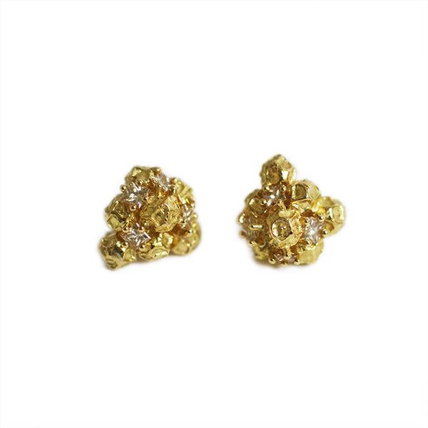 Peppercorn cluster earrings
