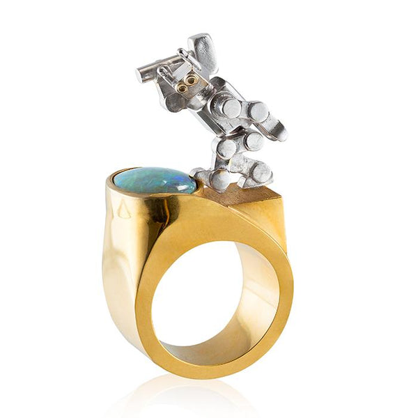 opal ring with robot
