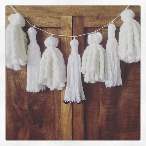White on White Tassel Garland