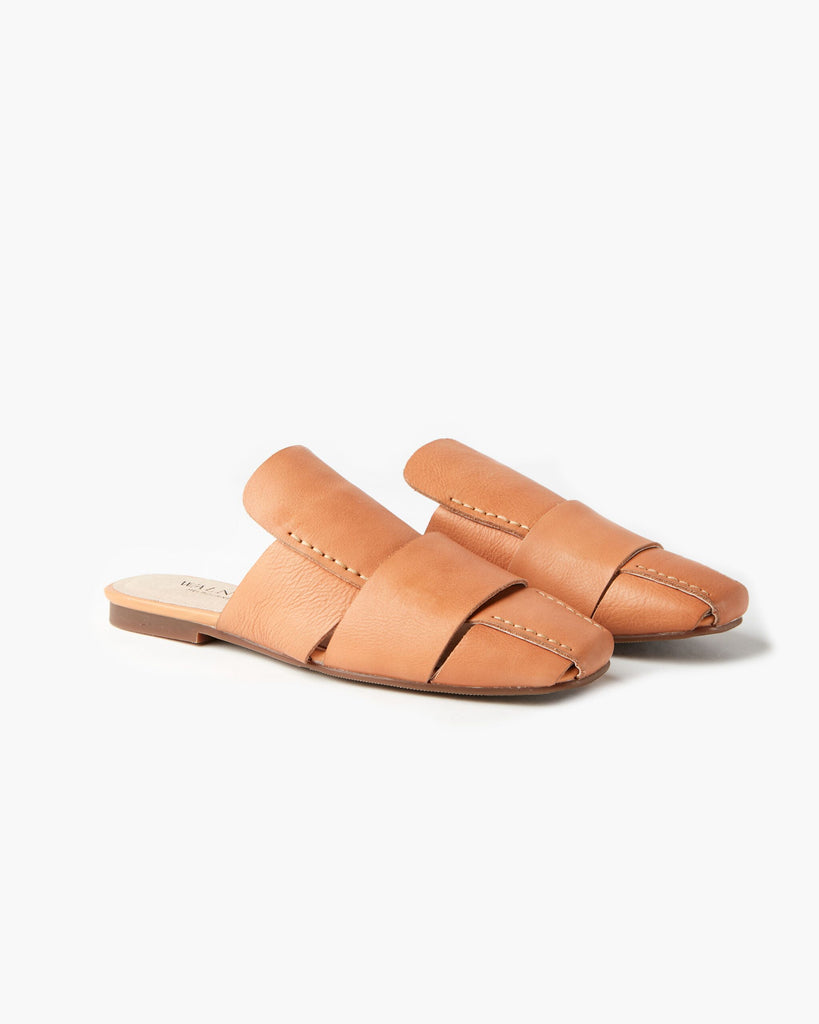 Clair Leather Mule | Tan