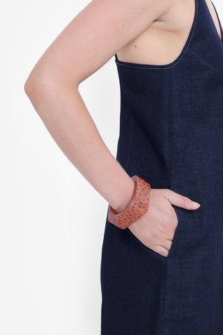 Halna Bangle | Orange / Magenta Spot