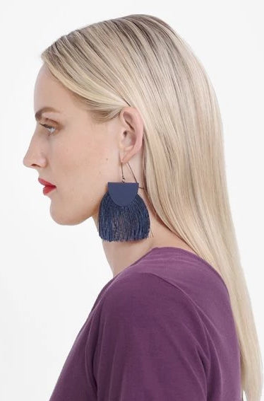 Holm Earring || Navy | Silver | Black | Orange | Yellow | Light Pink