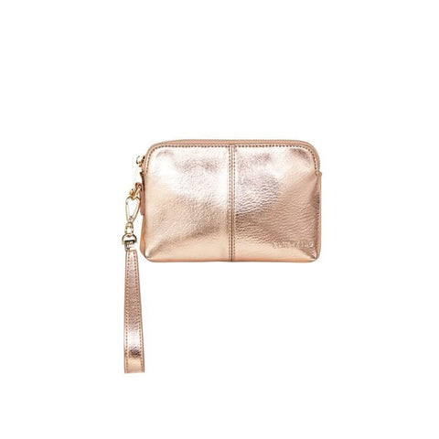 Bowery Coin Purse W/Wristlet | Rose Gold