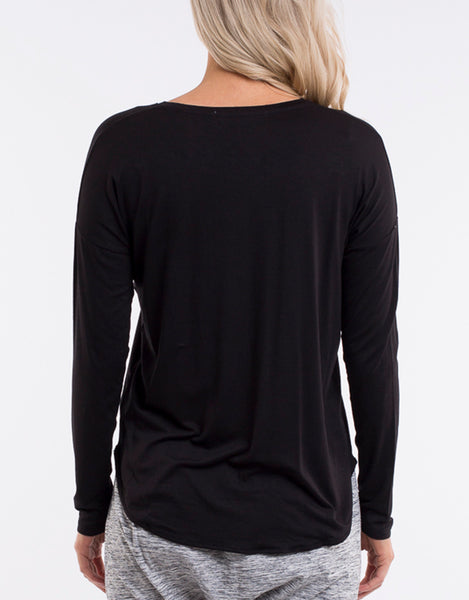 Essential L/S Tee - Black
