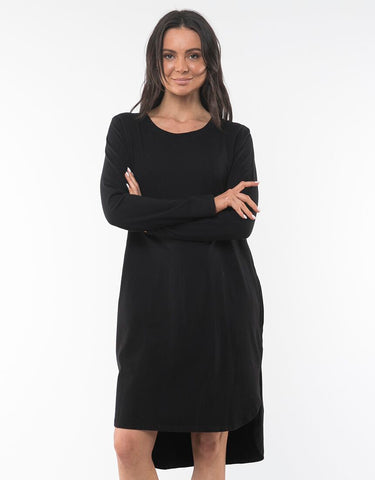 Bay Long Sleeve Dress | Black