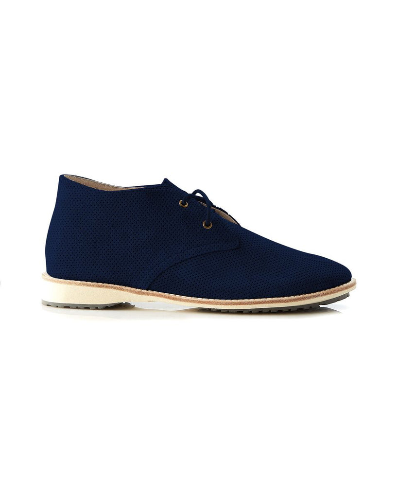 Nicola Lace Up Boot - Navy Mini Pin