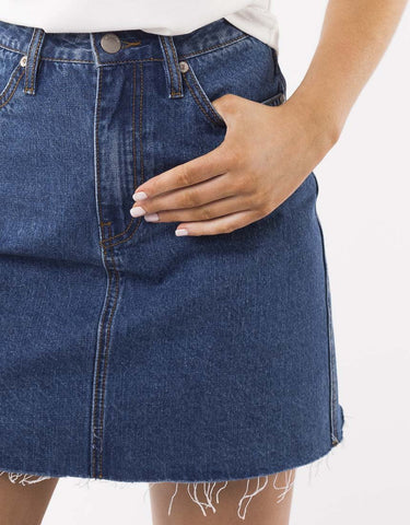 Mischa Denim Skirt | Dark Vintage Wash