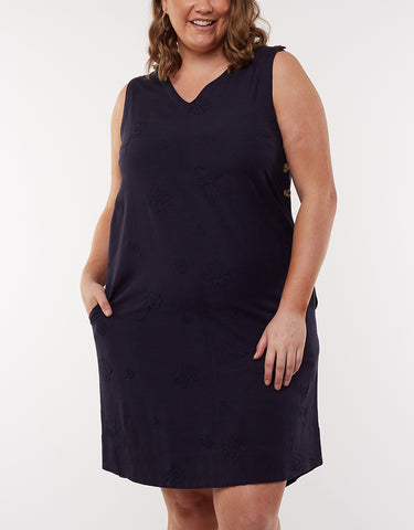 Veronica Vee Shift Dress | Navy