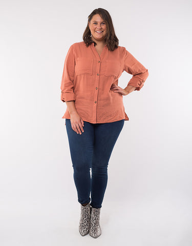 Leylah Shirt | Copper