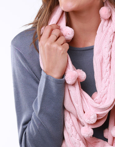 Bobble Loop Scarf | Rosewater