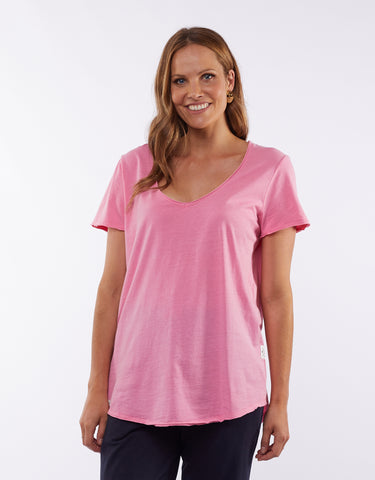 Fundamental Vee Tee | Bubblegum Pink