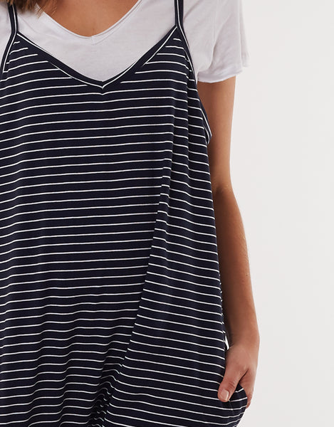 Harriet Stripe Jumpsuit | Navy
