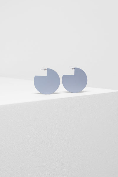 Hvar Circle Earring - Iris Blue | Navy | Silt