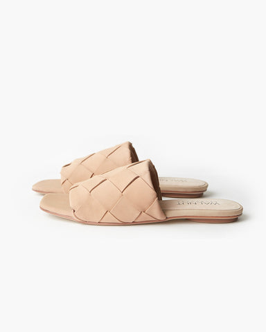 Rommie Leather Slide | Taupe