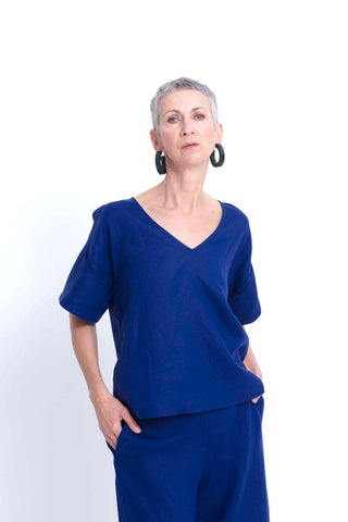 Hallvi Top | Cobalt