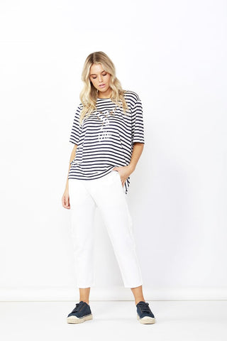Jude Stretch Denim Pant - White