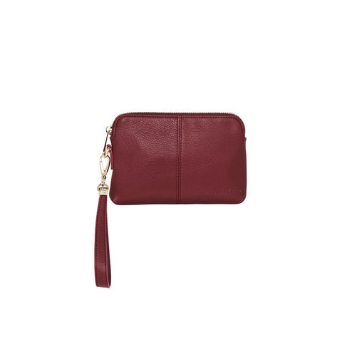 Bowery Coin Purse W/Wristlet | Maroon