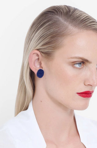 Stavik Earring || Off White | Magenta | Green | Red | Navy
