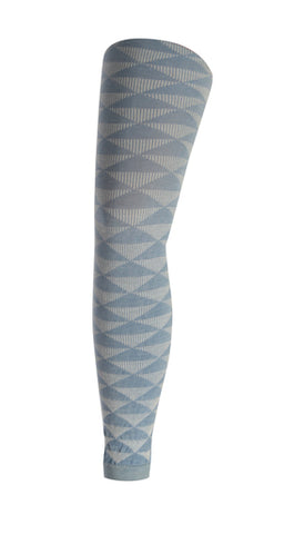 Triangles Footless Tights | Blue