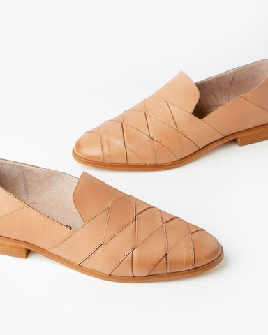 Vallery Flat | Tan Leather