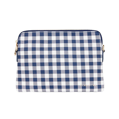 Bowery Wallet | Navy Gingham