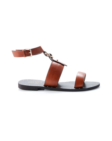 Colette Sandal | Tan Leather