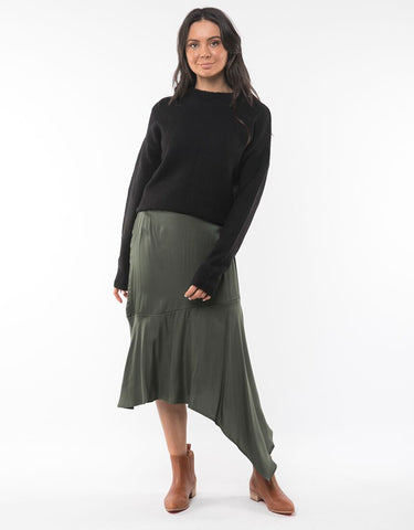 Piper Waterfall Skirt | Khaki