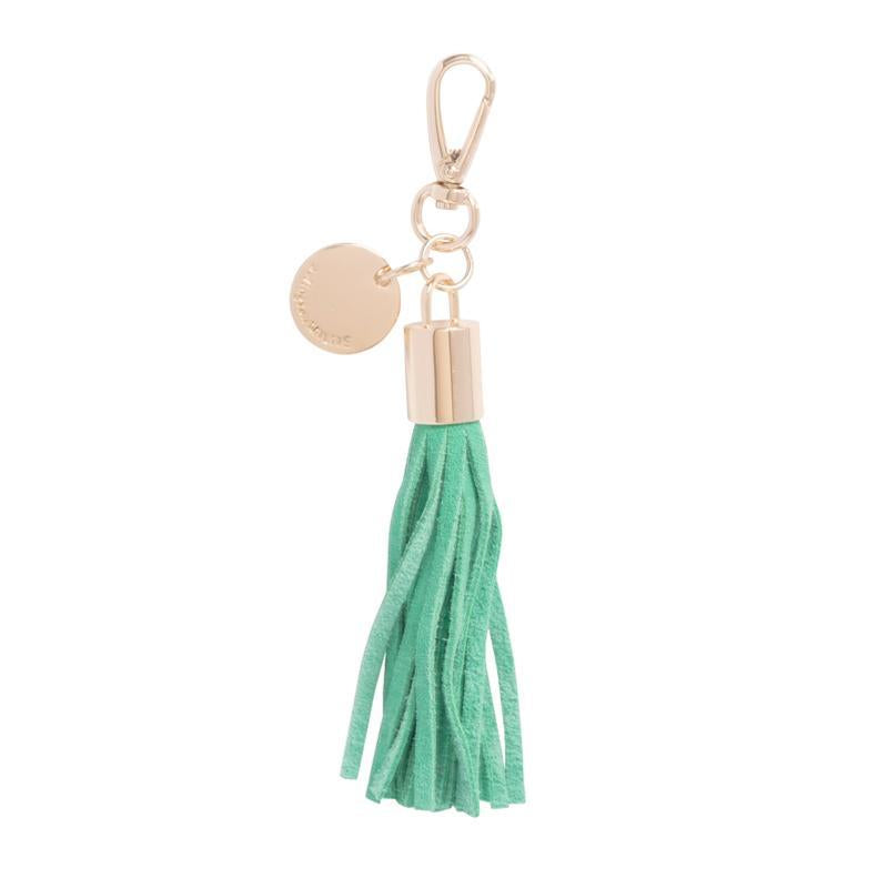 Tassel Leather | Green Suede