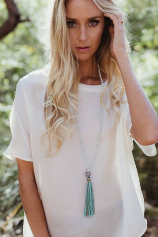 Humidity I Tassel Necklace I Turquoise