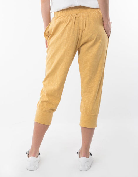 3/4 Brunch Pant | Yellow