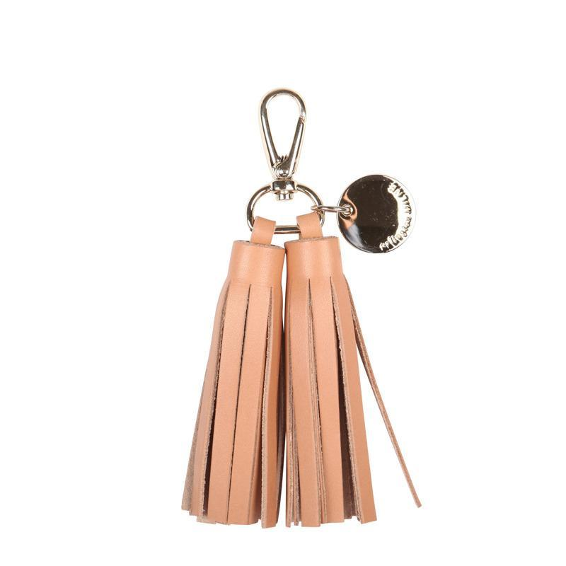 Double Tassel Leather- Tan