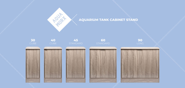 Aqua Worx Aquarium Stand - Washed Grey