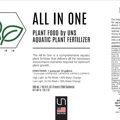 UNS Plant Food All In One Aquatic Plant Fertilizer
