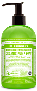 Vegan Dr.Bronner's Dr. Shikakai Lemongrass Lime soap 355ml Soap buy at green mindset