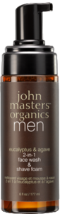 Vegan John Master Organics Eucalyptus and Agave 2in1 Face Wash and Shave for Men 177ml Cleanser buy at green mindset