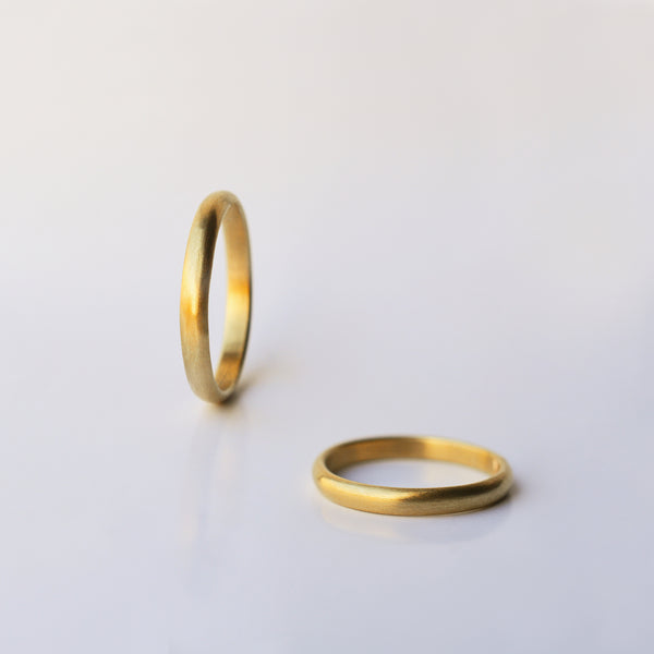 Classic Wedding Ring - 18k solid gold two