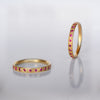 Band Ring - gold & Rubies