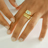 Diamond Aqua Ring - 18k solid gold