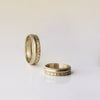 Decorated combined Wedding Ring - 18k solid gold