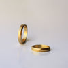 Spiral Wedding Ring - 18k solid gold