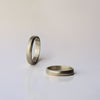 Spiral wide Wedding Ring  - 18k solid gold