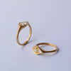 Asymetric Diamond ring - 18k gold