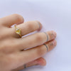 Asymetric Diamond ring - 18k gold & yellow diamond