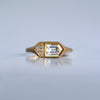 Fancy Baguette Ring - 18k gold & Diamonds