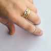 Taper Diamond Ring - 18k solid gold