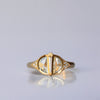 Royal Geometric Ring - 18k gold & Diamonds