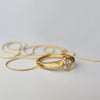 Ring \ necklace - 18k solid gold Diamond