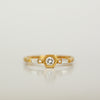 Hexagon Taper Ring - 18k gold & Diamonds