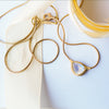 Drop necklace - 14k gold & Moonstone